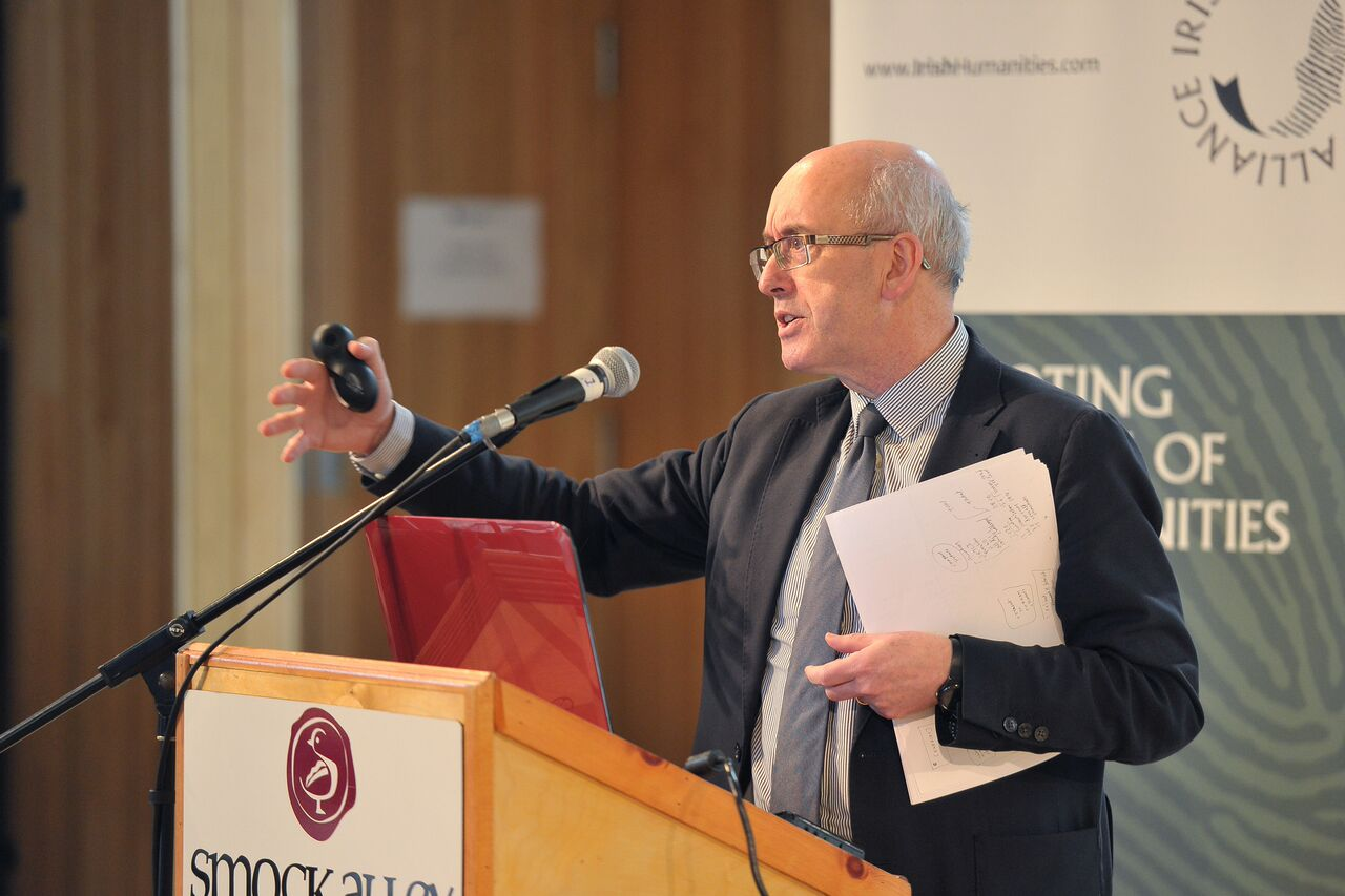 Professor Patrick O Donovan, Head of College, with the College of Arts, Celtic Studies and Social Sciences at University College Cork, presenting the submissions